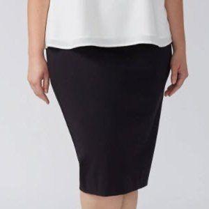 Lane Bryant Black Pencil Ponte Knit Skirt